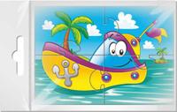 Купить Издательская группа Квадра Пазл для малышей Кораблик с пальмой, Издательская группа Квадра , Обучение и развитие