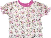 Купить Футболка для девочки Веселый малыш One, цвет: розовый. 69172/one-Букет. Размер 68, Одежда для новорожденных