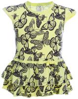 Купить Платье для девочки КотМарКот, цвет: желтый, черный. 21502. Размер 98, Одежда для девочек
