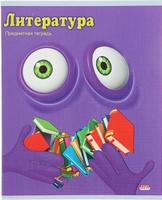 Купить Проф-Пресс Тетрадь Смайлики Литература 48 листов в линейку, Тетради