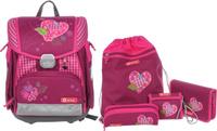 Купить Hama Ранец школьный Touch Tweedy Hearts с наполнением 4 предмета, Ранцы и рюкзаки