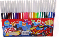 Купить Школа талантов Набор фломастеров Машинка 24 цвета, Фломастеры