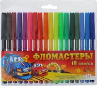Купить Calligrata Набор фломастеров Машинка 18 цветов, Фломастеры