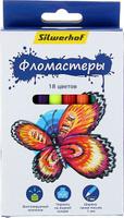 Купить Silwerhof Набор фломастеров Бабочки 18 цветов 1430573, Фломастеры