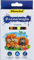 Купить Silwerhof Набор фломастеров Пластилиновая коллекция 18 цветов 1430575, Фломастеры