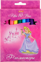 Купить Hatber Набор фломастеров Принцессы на розовом 10 цветов, Фломастеры