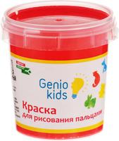 Купить Genio Kids Краска пальчиковая цвет красный 100 мл, Краски