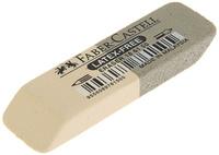 Купить Faber-Castell Ластик двусторонний цвет серый белый, Чертежные принадлежности