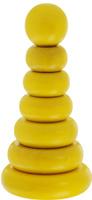 Купить Краснокамская игрушка Пирамидка Одноцветная цвет желтый, Развивающие игрушки