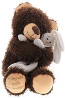 Купить Мягкая игрушка Медвежонок Чиба с зайцем , 29 см, Fancy, Мягкие игрушки