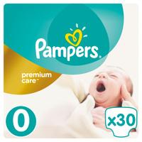 Купить Pampers Подгузники Premium Care 0-2, 5 кг (размер 0) 30 шт