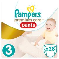 Купить Pampers Pants Трусики Premium Care 6-11 кг (размер 3) 28 шт, Подгузники и пеленки