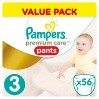 Купить Pampers Pants Трусики Premium Care 6-11 кг (размер 3) 56 шт, Подгузники и пеленки