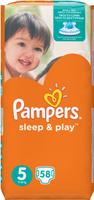 Купить Pampers Подгузники Sleep & Play 11-18 кг (размер 5) 58 шт