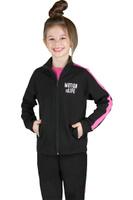 Купить Толстовка для девочки Boom!, цвет: черный, розовый. 70804_BLG_вар.1. Размер 110/116, 5-6 лет, Одежда для девочек