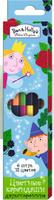 Купить Ben&Holly Набор цветных карандашей Бен и Холли двусторонние 12 цветов 6 шт, Карандаши
