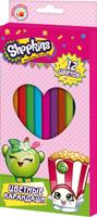 Купить Shopkins Набор цветных карандашей Шопкинс 12 цветов, Карандаши