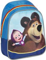 Купить Маша и Медведь Рюкзак дошкольный цвет синий красный, Росмэн, Ранцы и рюкзаки