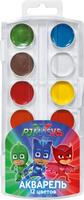 Купить PJ Masks Акварель Герои в масках 12 цветов, Росмэн, Краски