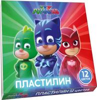 Купить PJ Masks Пластилин Герои в масках 12 цветов, Росмэн