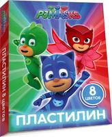 Купить PJ Masks Пластилин Герои в масках 8 цветов, Росмэн