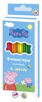 Купить Peppa Pig Набор фломастеров Свинка Пеппа неоновые 6 цветов, Фломастеры
