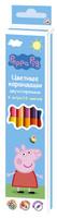Купить Peppa Pig Набор цветных карандашей Свинка Пеппа двусторонние 12 цветов 6 шт, Карандаши