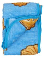 Купить 40 недель Плед детский цвет голубой 88 х 103 см 4901990015882, Пледы и покрывала