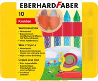 Купить Eberhard Faber Мелки восковые трехгранные водостойкие 10 цветов 521010, Мелки и пастель