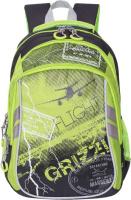 Купить Grizzly Рюкзак цвет черный салатовый RB-733-2/2, Ранцы и рюкзаки