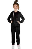 Купить Спортивный костюм для девочки Boom!, цвет: черный. 70805_BLG_вар.1. Размер 98/104, 3-4 года, Одежда для девочек