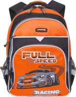 Купить Grizzly Рюкзак цвет черный оранжевый RB-731-2/2, Ранцы и рюкзаки