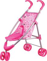 Купить Gulliver Коляска прогулочная для кукол цвет розовый 22-12030, Куклы и аксессуары