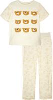 Купить Пижама для девочки КотМарКот, цвет: светло-бежевый, оранжевый. 16224. Размер 122, Одежда для девочек