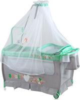 Купить Lorelli Манеж-кроватка Sleep'N'Dream Rocker цвет зеленый серый, Манежи