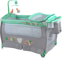 Купить Lorelli Манеж-кроватка Sleep'N'Dream цвет зеленый серый, Манежи