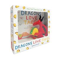 Купить Dragons Love Tacos Book and Toy Set, Зарубежная литература для детей