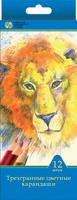 Купить СКФ Набор цветных карандашей Сибирский кедр Дикие кошки 12 шт, Сибирская карандашная фабрика, Карандаши
