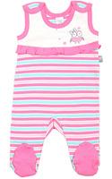 Купить Ползунки для девочки Cherubino, цвет: экрю, розовый. CAN 9408. Размер 80, Одежда для новорожденных