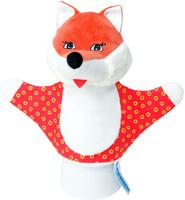 Купить Мякиши Мягкая игрушка на руку Лисичка цвет красный