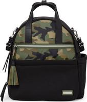 Купить Skip Hop Рюкзак для мамы Nolita Neoprene Diaper Backpack цвет черный зеленый SH 204303, Сумки для мам
