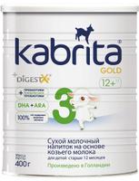 Купить Kabrita Gold 3 смесь для кормления от 12 месяцев, 400 г, Заменители материнского молока и сухие смеси