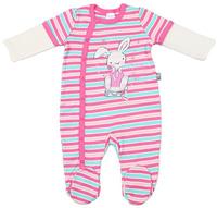 Купить Комбинезон для девочки Cherubino, цвет: экрю, розовый. CAN 9409. Размер 62, Одежда для новорожденных