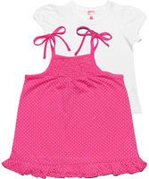 Купить Комплект для девочки Cherubino: футболка, сарафан, цвет: розовый. CSB 9549 (117). Размер 86, Одежда для новорожденных