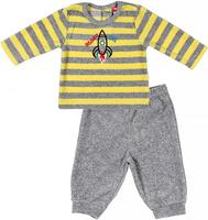 Купить Комплект для мальчика Cherubino: джемпер, брюки, цвет: серый меланж. CWN 9526 (131). Размер 80, Одежда для новорожденных