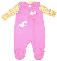 Купить Комплект для девочки Cherubino: джемпер, ползунки, цвет: розовый. CWN 9422. Размер 80, Одежда для новорожденных