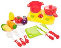 Купить Abtoys Сюжетно-ролевые игрушки Помогаю Маме Набор посуды и продуктов для резки PT-00471