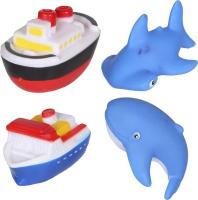 Купить Yako Набор игрушек для ванной Акварики 4 шт Y20059123, Первые игрушки