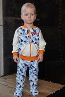 Купить Кофта для мальчика Lucky Child Умка, цвет: голубой, синий. 32-18ф. Размер 56/62, Одежда для новорожденных