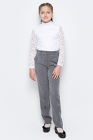 Купить Брюки для девочки Nota Bene, цвет: серый. CWJ26001A-20. Размер 134, Одежда для девочек